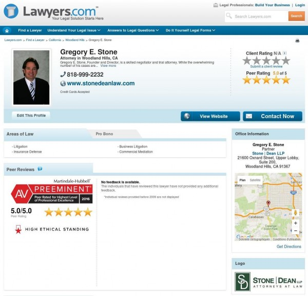 Gregory Stone, Esq. Lawyers.com