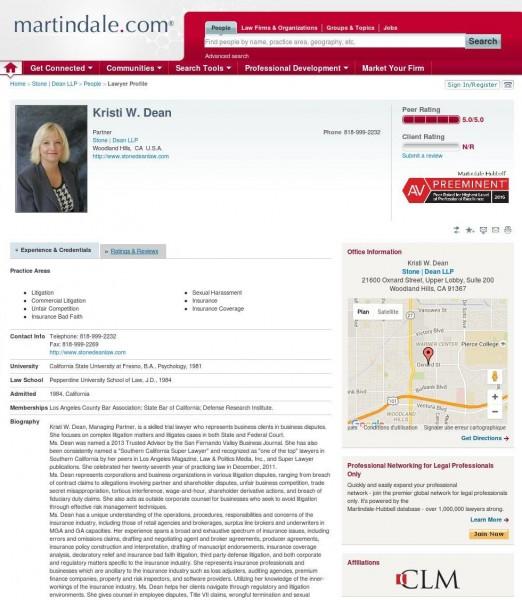 Kristi Dean, Esq. Martindale.com