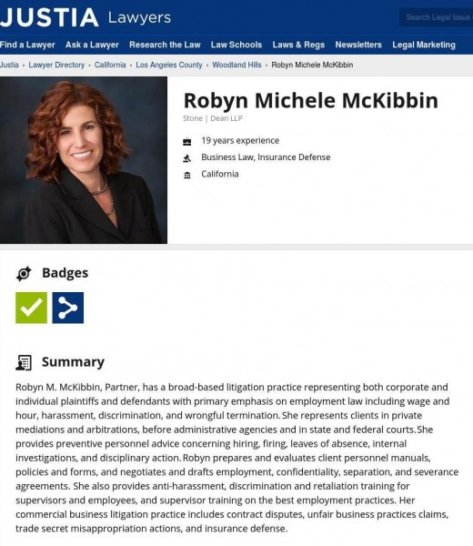 Robyn McKibbin, Esq. Justia.com