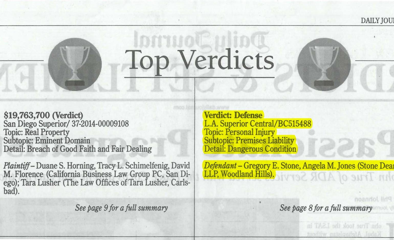 Verdicts & Settlements Archives – Stone   Dean Law